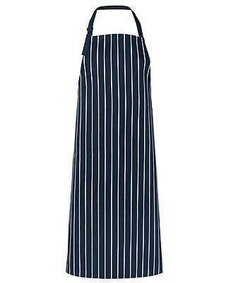 5x JB's Wear 5BSNP Bib Striped Without Pockets Chef Cook Waitress Apron