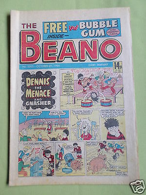 The Beano  - Uk Comic -  6 Oct 1984  - #2203- Free Gift Not Included