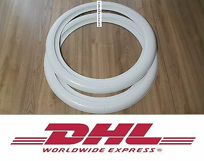 White Wall 15 Car Rubber Ring 2 pieces spare wheel #162 ATLAS 2 New
