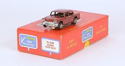 Triang Minic Motorways M1543 Humber Super Snipe RARE MAROON VERY NEAR MINT BOXED