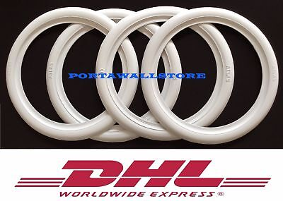 "ATLAS 15"" White Wall Portawall Tire insert trim set of 4 Flapper Sidewall..."