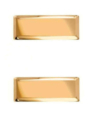 Police Lieutenant Insignia Bars - Smooth or Corrugated - Gold Tone or Nickel