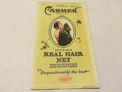Vintage CARMEN Senorita Double Strand Hair Net MIP Old Stock w Envelope