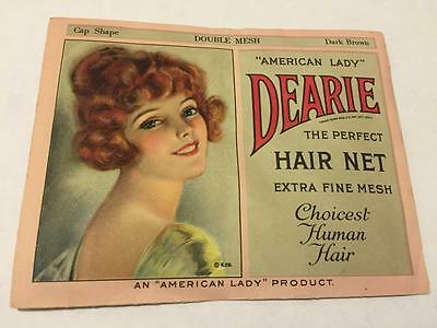 Vintage DEARIE American Lady Double Mesh Hair Net MIP Old Stock w Envelope