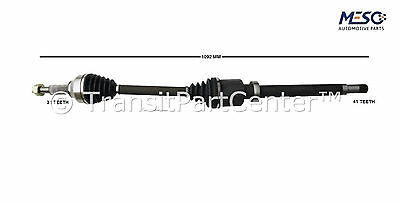 Drive Shaft Axle Ford Transit Tourneo Custom 2.2 Tdci Right Hand Driver Off Side