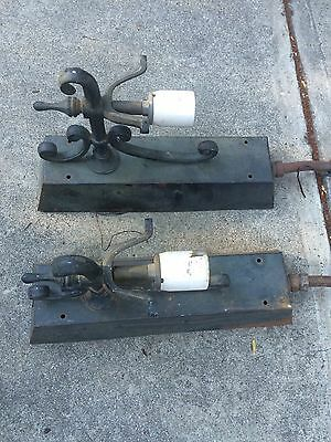 Vintage 2 Art Deco Wall Sconce Antique Light Fixture Industrial Warehouse