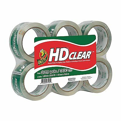 """Duck Brand Commercial Grade Packaging Tape, 1.88"""" x 54.6 Yds.  (Pack Of 6 Rolls)"""
