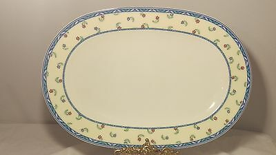"Villeroy & Boch Adeline 13 3/8"" Oval Serving Platter in Excellent Condition"