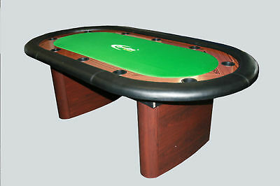 7FT Deluxe Poker Table With Dinning Top. ALLTABLESPORTS