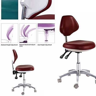 Mobile Dental Doctor's Stools Medical Dentist Chair Surgical DRS' Stools PU Hot