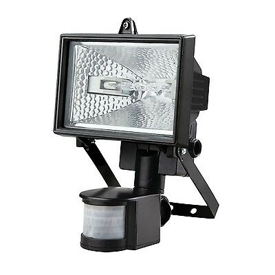 500W Halogen Floodlight Security Light With Motion PIR Sensor With Bulb Outdoor