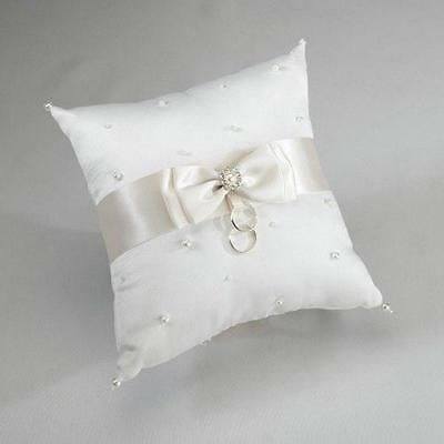Lillian Rose Ivory Scattered Pearl Wedding Ring Cushion Pillow