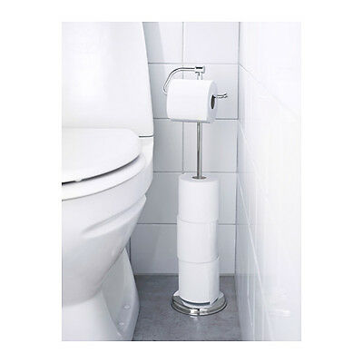 IKEA BALUNGEN Magnetic Bathroom Toilet Paper Roll Holder Stainless Steel Stand