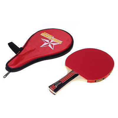 Red Waterproof Carring Bag+Table Tennis Racket Long Handle Ping Pong Paddle