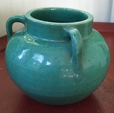 Antique Arts & Crafts Mission Turquoise Pottery Vase Tyg 1910 Urn Early 20th c.