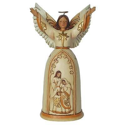 Jim Shore Heartwood Creek Ivory & Gold Nativity Angel Figurine New Boxed 4044105