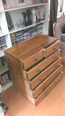 ##Handmade bespoke wood wooden 2 and 4 drawer chest unit 4 bedroom pine or oak##