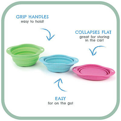 ECO FRIENDLY - BECO Silicone dog collapsible water bowl Travel Easy Pet Fold up
