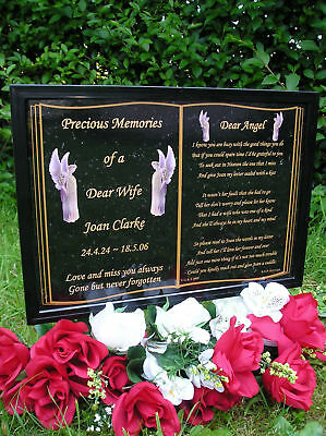 Personalised A5 Size Memorial Grave Plaque-Wife,husband,son,daughter,gran Etc