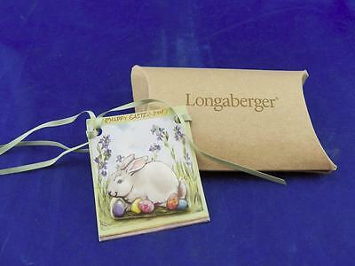 Longaberger Rare Ceramic EASTER BUNNY Basket Tie-On/Pin New Old Stock Free Ship!