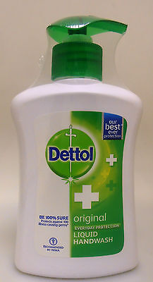 Dettol 225ml Oringal 100% Liquid Hand Wash Handwash Soap Everyday Protection USA