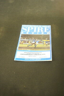 Chesterfield v Lincoln City 7th October 1989