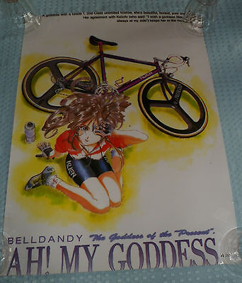 "AH! OH MY GODDESS Japanese Poster 15 X 21"" ANIME - OUT OF PRINT ART - BELLDANDY"