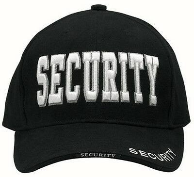 Deluxe Low Profile Cap Blk - ''Security'' Embroidered