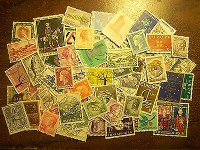 LUXEMBOURG – 100 Different Used Stamps, 1940s-1970s - FREE SHIPPING
