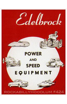 new hot rod Poster 11x17 Edelbrock Speed and Power Equipment drag race