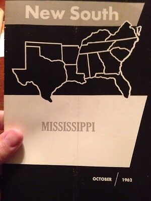 Oct. 1962 NEW SOUTH liberal Southern Regional Council; MISSISSIPPI RACIAL DIVIDE