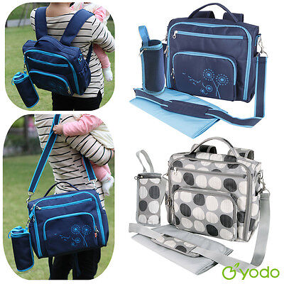Yodo Large Baby Diaper Backpack Mommy Nappy Organizer Travel Bag Changing Pad