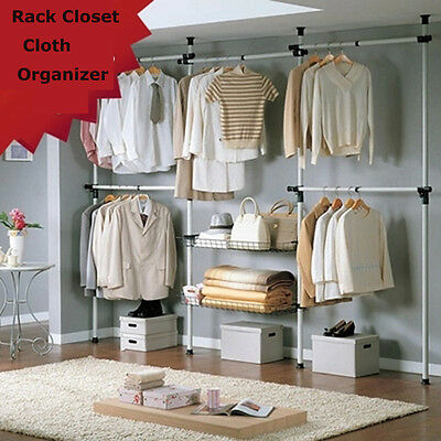NEW Arrival !Closet Organizer Rack Storage Clothes Wardrobe For Home Family