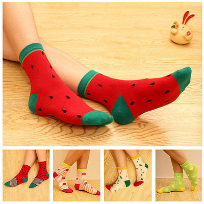1 Pair Women Cute Spring Winter Fruit Cotton Thicken High Quality Socks