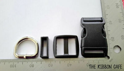 Buckles Black 25mm wide heavy duty (4-piece sets)