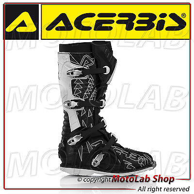 Botas Acerbis Shark Off-Road Motocross Enduro Negro/blanco Talla 41