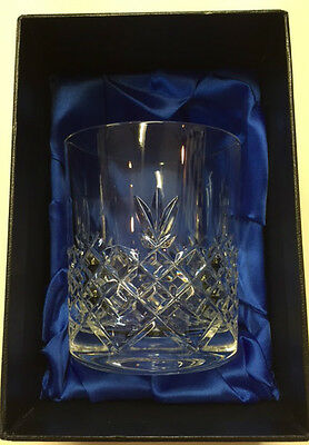 Crystal Of Distinction Hand Cut Crystal Whisky Glass In Presentation Box