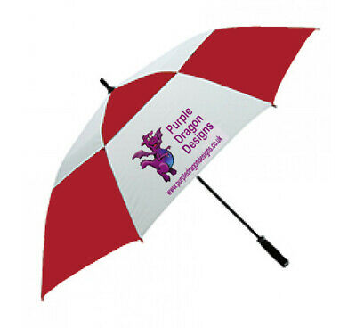 Personalised Golf Umbrella promotional merchandise new storm proof vented panels