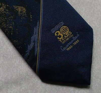 COMPANY LOGO TIE SOVEREIGN 30 YEARS SERVING YOU 1965-1995 1990s VINTAGE RETRO