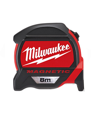 Milwaukee 8m Measuring Tape Dual Magnetic Hook Architect Scale 48225308 48227308