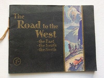THE ROAD TO THE WEST - Advertising map book c.1930 - DON BRAKE/CLUTCH LINING