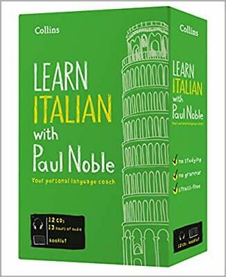 Learn Italian with Paul Noble Collins 12 CDs, Booklet, DVD Collection