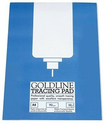 90gsm A4 Goldline Tracing Paper Pad (50 Sheet Pad)