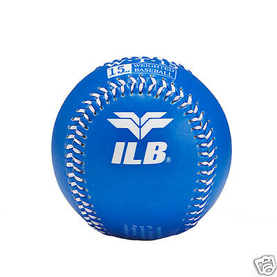 ILB Baseball Sport Color Snap Soft Training Ball 15 Oz Weighted Baseballs Blue