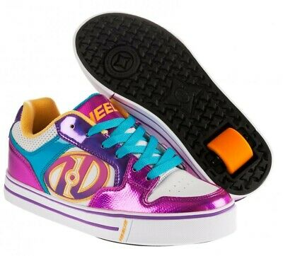 Heelys Motion Fuschia / Multi Wheeled Shoes + FREE DELIVERY+DVD Save £15 off RRP