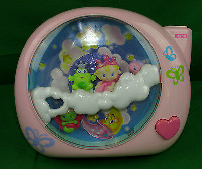 Fisher-Price Perfectly PINK Dreamland Baby Crib Soother Projector Music Lights