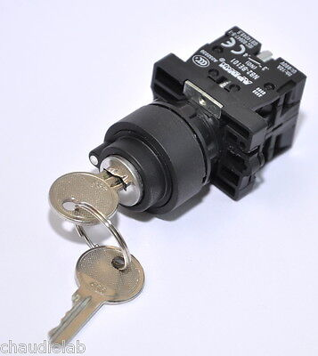 1x Key Lock Power On-Off-On Momentary Key Switch #44999