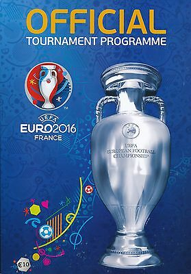 EURO 2016 FRANCE  Official Tournament Brochure - includes England Wales Ireland