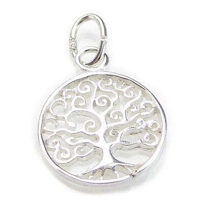 Tree of life tiny sterling silver charm .925 x 1 Trees charms CI300212