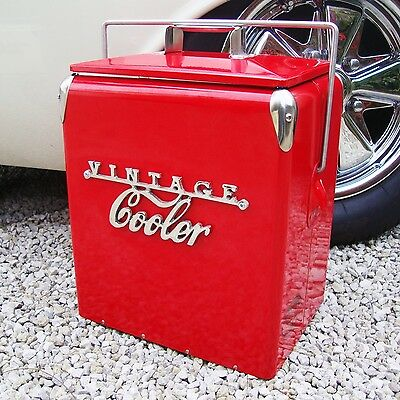 VINTAGE COOLER Coolbox RED Retro coca cola Coke Cool box vw wedding present 77VC